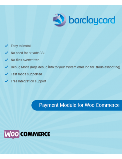 Barclays ePDQ payment gateway (Barclaycard) for WooCommerce